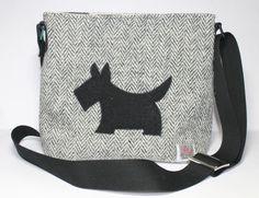 Harris Tweed bag crossbody bag Tweed purse by Enchantingcrafts