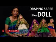 How to drape saree for Dolls Diy Crafts For Gifts, Diy Arts And Crafts, Wedding Cards Handmade, Wedding Gifts, Barbie Decorations, Half Saree Function, Quilling Dolls, Thali Decoration Ideas, Sumo
