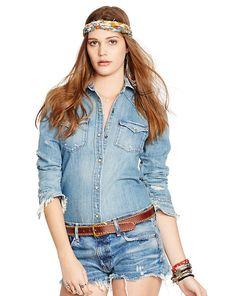 Boyfriend Western Shirt - Shop All Apparel - Ralph Lauren France