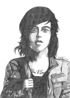 kellin quinn sleeping with sirens band art pencil drawing by @maggie_creates_ @maggi
