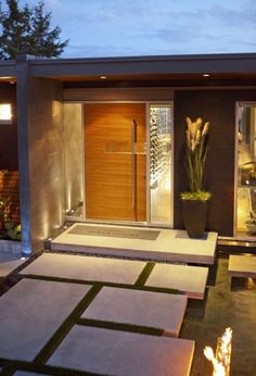 The Wave House - modern - entry - vancouver - kbcdevelopments Interesting front door. The Wave House - modern - entry - vancouver - kbcdevelopments Design Exterior, Modern Exterior, Interior And Exterior, Entrance Design, House Entrance, Entrance Ideas, Door Ideas, Modern Entrance Door, Entrance Decor