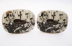 Bernard Buffet Cufflinks Art Cuff Links by LadyandLibrarian