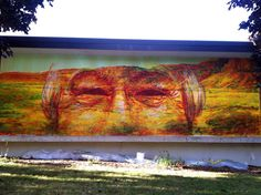 Gaia New street art in Sheboygan for the Connecting Communities Project at the John Michael Kohler Art Center (via @StreetArtNews)