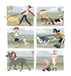 How to Walk a Dog by firewolfdesign.deviantart.com