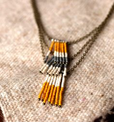 seed bead necklace t