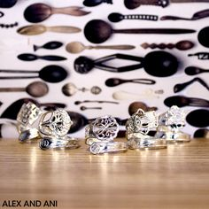 ALEX AND ANI NEW COLLECTION! SPOON RINGS! AVAVILABLE 10/1 ONLINE AND 10/5 IN ALEX AND ANI STORES!