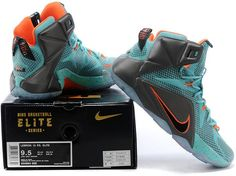 quality design 05ad3 e9088 Lebron 12 Women Grey Green Orange0