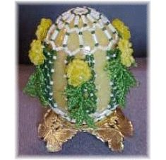 Diamond Trellis Beaded Egg Pattern at Sova-Enterprises.com