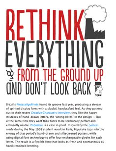 Rethink everything and don't look back!