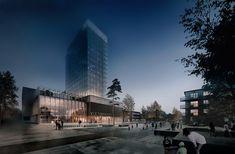 White Arkitekter diseña el edificio más alto en madera de Suecia para el Centro Cultural de Skellefteå,© White Arkitekter