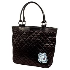 Connecticut Huskies NCAA Quilted Tote (Black)