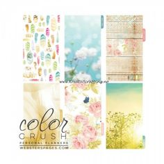 Binder Inserts > Dark Pink Color Crush Planner Kit - Websters Pages: A Cherry On Top Planner Dividers, Planner Inserts, Budget Planner, Binder Inserts, Planner Ideas, Scrapbook Supplies, Scrapbooking, Light Teal Color, Cards