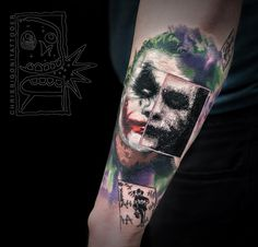 Joker tattoo by Chris Rigoni