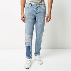 Light blue bleach Jimmy slim tapered jeans - tapered jeans - jeans - men