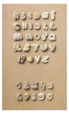 Pebble Alphabet - Upper case.