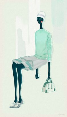 Marc Jacobs SS12 illustration, via Velwyn Yossy
