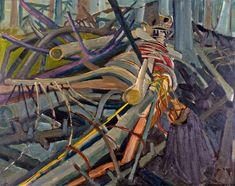 Jack Shadbolt, Image in Cedar Slash, 1947 Canadian Painters, Canadian Artists, Watercolor Paintings, Watercolour, British Columbia, Contemporary Artists, Bing Images, Design Art, Art Gallery