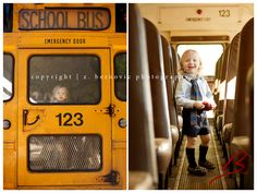 I love this and yet something about it makes me want to cry!  I think it's seeing that darling little face in the big lonely school bus window!