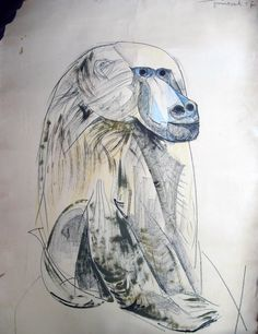 """""""El babuino"""" Josep Guinovart."""