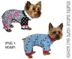 Sweet Dreams Dog Pajama Pattern 1749 * Small & Medium * Dog Clothes Sewing Pattern * Dog Onesie Pattern * Dog PJs * Dog Attire * Pet Clothes by SofiandFriends on Etsy