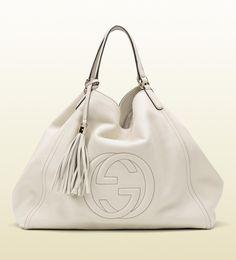 soho leather shoulder bag white Gucci Leather handbag