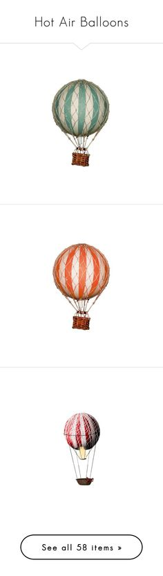 """""""Hot Air Balloons"""" by awsewell ❤ liked on Polyvore featuring fillers, backgrounds, balloons, vintage, circus, decor, steampunk, circle, circular and round"""