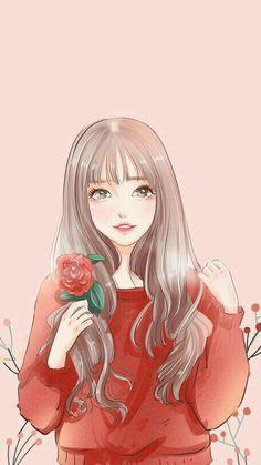 Pin Image by gatoloco Art Pretty Anime Girl, Beautiful Anime Girl, Kawaii Anime Girl, Anime Art Girl, Manga Girl, Girly Drawings, Anime Girl Drawings, Cartoon Drawings, Cartoon Art