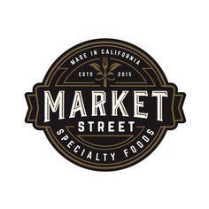 Market Street logo design badge circle enclosure