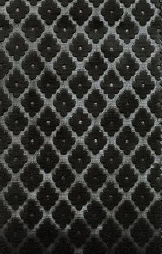 Cassandre Velvet Damask  Embossed black velvet with small geometric design . Suitable For Contract Curtains and Upholstery.