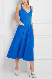Fara stretch-cotton midi dress