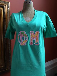 Sorority Double Letter Shirt by AuntieJsDesigns on Etsy