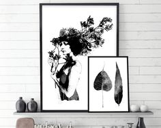 Set of 2, Set of 2 Print, Botanical Print, Botanical Art, Botanical Poster…