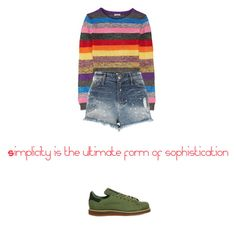 """#87"" by kimtahyung on Polyvore featuring Miu Miu, River Island and adidas"