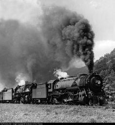 Louisville & Nashville Steam 2-8-2 # LN 1903 at Big Stone Gap, Virginia.