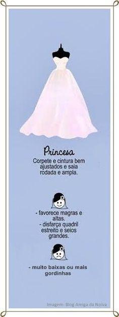 Vestido tipo Princesa
