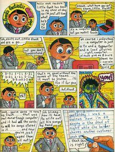 Frank Sidebottom illustration & comics from 'Oink! Huge Tv, Ernst Haeckel, Enid Blyton, Fantastic Show, Britpop, Paul Mccartney, The Guardian, Comic Strips