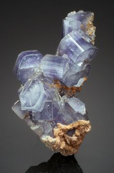 FLUORAPATITE Panasqueira Mine, Castelo Branco District, Portugal another crystal that looks like it has been designed and sculpted for your coffee table Cool Rocks, Beautiful Rocks, Minerals And Gemstones, Rocks And Minerals, Natural Crystals, Stones And Crystals, Gem Stones, Rock Collection, Mineral Stone