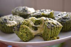 Na pracinha: Muffins Integrais de Espinafre e Queijo