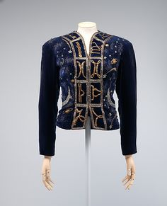 Elsa Schiaparelli (Italian, 1890–1973) for House of Lesage (French, founded 1922). Evening jacket, summer 1937. silk, metal, rhinestones, plastic. The Metropolitan Museum of Art, New York. Brooklyn Museum Costume Collection at The Metropolitan Museum of Art, Gift of the Brooklyn Museum, 2009; Gift of Mrs. Anthony V. Lynch, 1971 (2009.300.1354). #CosmicWonders