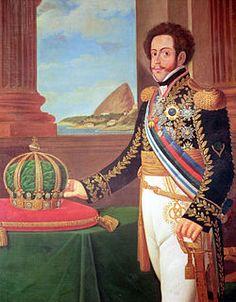 """D. Pedro I do Brasil e IV de Portugal (1798-1834)  foi o fundador e primeiro monarca do Império do Brasil. Era conhecido como """"O Rei Soldado"""" ou """"O Libertador"""". Acreditava nos ideais liberais e combateu mesmo na guerra, contra o seu irmão D. Miguel, que era absolutista e queria repor a monarquia absolutista em Portugal."""