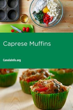 The classic Caprese Italian salad is in an easy-to-tote muffin form – think lunchbox! Entree Recipes, Home Recipes, Baking Recipes, Healthy Recipes, Bite Size Food, Italian Salad, 30 Minute Meals, Easy Weeknight Meals, Workplace Wellness