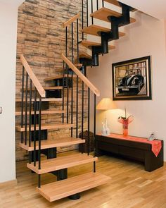 and the stairs in your home! Staircase Design Modern, Rustic Staircase, Small Staircase, Home Stairs Design, House Staircase, Staircase Remodel, Staircase Makeover, Modern Stairs, Interior Stairs