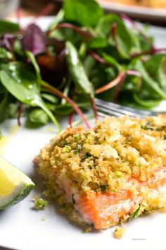 The Rise Of Private Label Brands In The Retail Meals Current Market Citrus Crusted Arctic Char With Mixed Greens - Sugarlovespices Whole30 Fish Recipes, Easy Fish Recipes, Pescatarian Recipes, Entree Recipes, Healthy Dinner Recipes, Cooking Recipes, Healthy Food, Seafood Dishes, Fish And Seafood