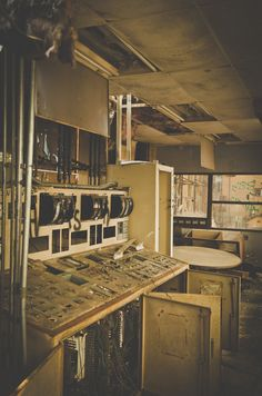 Abandoned Letchworth Village Power Plant Ruins Control Room Analog Nikon D7000 Photography ~ via Dorialusium