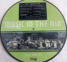 """Big 50% Discount Auction !!!     MUSIC IN THE AIR - RCA Victor 39001A / B 78rpm 12""""  picture record rarest! #78rpm #Schellackplatte"""