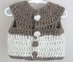 Instant PDF download Crochet Bulky Button Up Sweater Vest Pattern (2-3 T) by Adirondack Patterns on Etsy, $3.00
