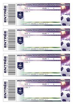 Pour un anniversaire 100% FFF, Tous-les-Héros t'as concocté des cartes d'invitations Foot à donner à tes amis !