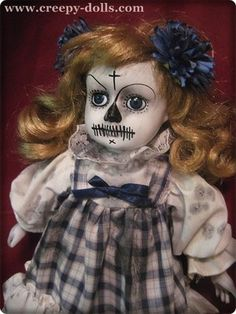 Creepy Day of The Dead Girl in Blue Plaid by BASTET2329 | eBay