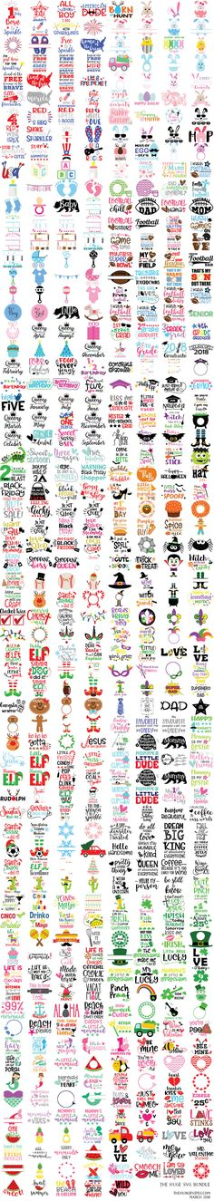 Huge SVG Bundle full of SVG cut files for several holidays including Thanksgiving Christmas and Halloween! Use these for Cricut or Silhouette diy projects with viinyl decals! Cricut Fonts, Cricut Vinyl, Vinyl Decals, Vinyl Crafts, Vinyl Projects, Craft Projects, Shilouette Cameo, Silhouette Cameo Projects, Silhouette Cameo Vinyl