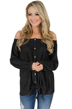 Asvivid Womens Casual Off The Shoulder Criss Cross Shoulder Long Sleeve Loose Pullover Sweatshirt Tops Bell Sleeve Shirt, Shirt Sleeves, Loose Tops, Off Shoulder Tops, Shirt Blouses, Tee Shirt, Tie Blouse, Dress Outfits, Long Sleeve Tops